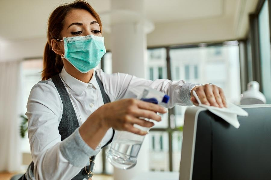 Provide disposable wipes so that commonly used surfaces can be wiped down by employees before each use