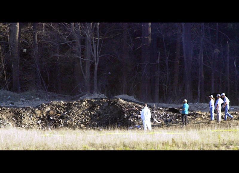 """The fourth hijacked plane crashed at 10:03 a.m. in a field in Shanksville, Pennsylvania. The 9/11 Commission Report <a href=""""http://www.gpoaccess.gov/911/pdf/sec1.pdf"""" target=""""_hplink"""">says</a> several passengers made calls from the plane and received word of the other hijackings. Upon hearing the news that major cities were being targeted, the passengers decided to revolt: <blockquote>Five calls described the intent of passengers and surviving crew members to revolt against the hijackers. According to one call, they voted on whether to rush the terrorists in an attempt to retake the plane. They decided, and acted.<br><br>At 9:57, the passenger assault began. Several passengers had terminated phone calls with loved ones in order to join the revolt. One of the callers ended her message as follows:""""Everyone's running up to first class. I've got to go. Bye.""""</blockquote> <a href=""""http://timeline.national911memorial.org/#/Explore/2"""" target=""""_hplink"""">According</a> to the 9/11 Memorial, the hijackers deliberately crashed in a field to prevent passengers from retaking the airplane. The crash site in Shanksville is approximately 20 minutes flying time from Washington, D.C."""