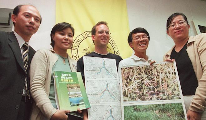 Dr Ng Cho-nam (second right) with fellow members of the Hong Kong Bird Watching Society. Photo: Handout