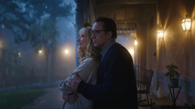 Joely Richardson and Nicolas Cage in 'Color Out of Space'. (Credit: Studiocanal)