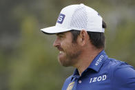 Louis Oosthuizen, of South Africa, watches his shot on the 11th green during the second round of the U.S. Open Golf Championship, Friday, June 18, 2021, at Torrey Pines Golf Course in San Diego. (AP Photo/Jae C. Hong)