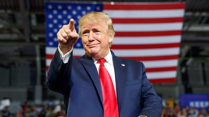 President Donald Trump on 2020 Campaign rally