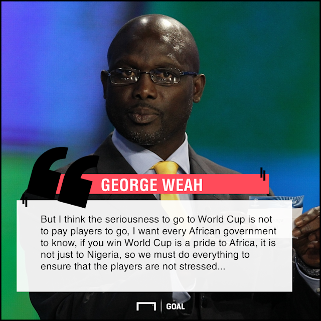 The African football legend is optimistic that the Super Eagles can go all the way to win the coveted trophy provided they put their house in order