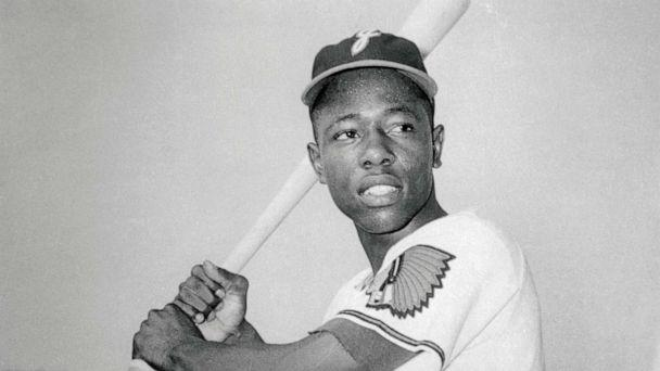 PHOTO: Hank Aaron while he was with the Jacksonville Braves in the South Atlantic League, circa 1953. (Bettmann Archive via Getty Images)