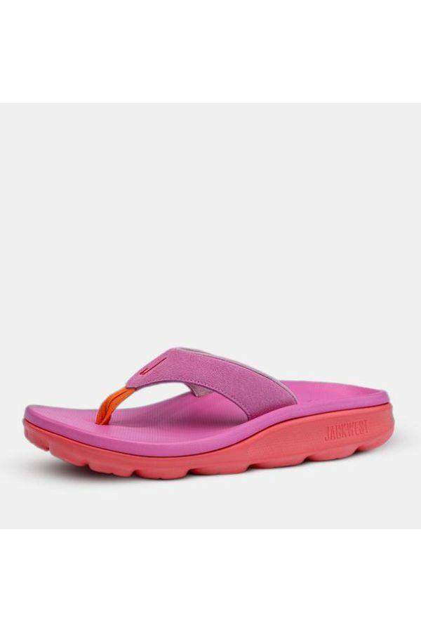 """<p><strong>Jackwest</strong></p><p>jackwestbrand.com</p><p><strong>$70.00</strong></p><p><a href=""""https://jackwestbrand.com/collections/womens-flip-flops/products/athleisure-leather-flipflop-5"""" rel=""""nofollow noopener"""" target=""""_blank"""" data-ylk=""""slk:SHOP NOW"""" class=""""link rapid-noclick-resp"""">SHOP NOW</a></p><p>Calling all flip-flop fans: The proprietary foam system and bouncy outsole on this pair makes it unlike any other shoe you own. </p>"""