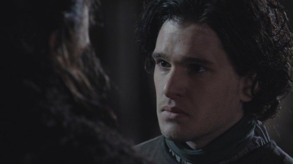 <p>Baby-faced idealist Jon Snow spends most of the first episode practicing his sword fighting and preparing to travel to join the Night's Watch. The only slight hint that he might turn out to be someone comes when he names his rescued wolf Ghost. A sign of things to come...</p>