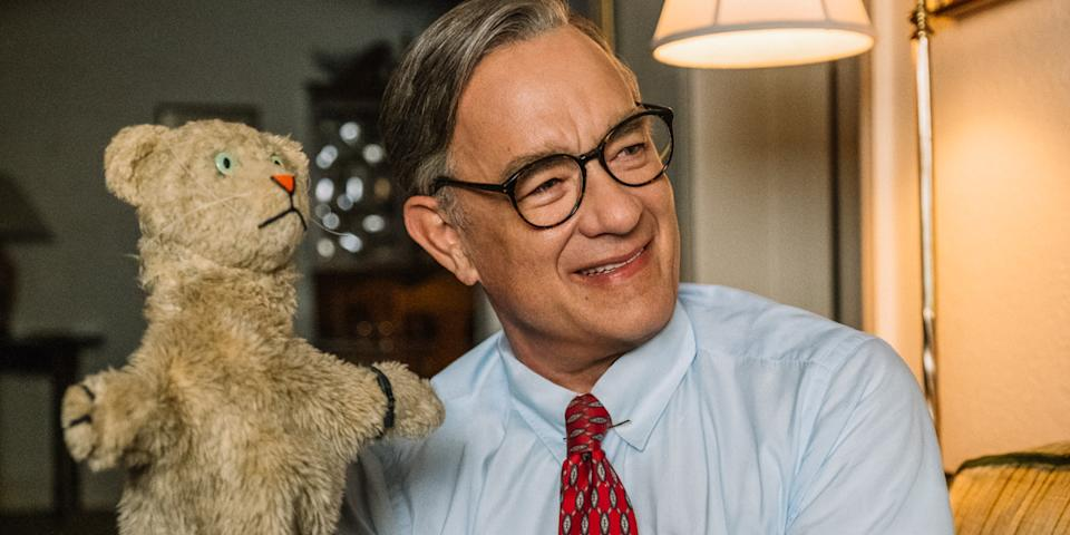 Tom Hanks as Mr. Rogers in 'A Beautiful Day in the Neighborhood' (Photo: Lacey Terrell/Sony Pictures)