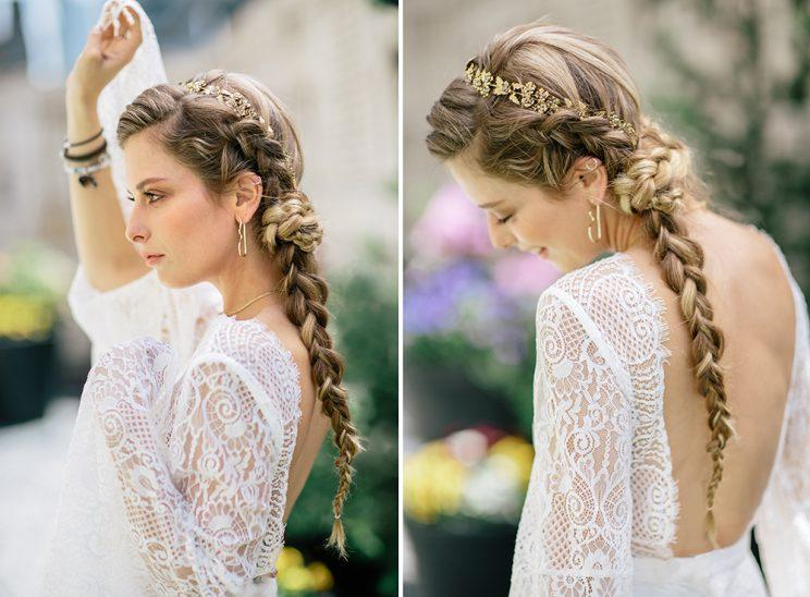 Katz looks effortlessly chic with soft makeup and French braids. (Photo: Priscilla De Castro)