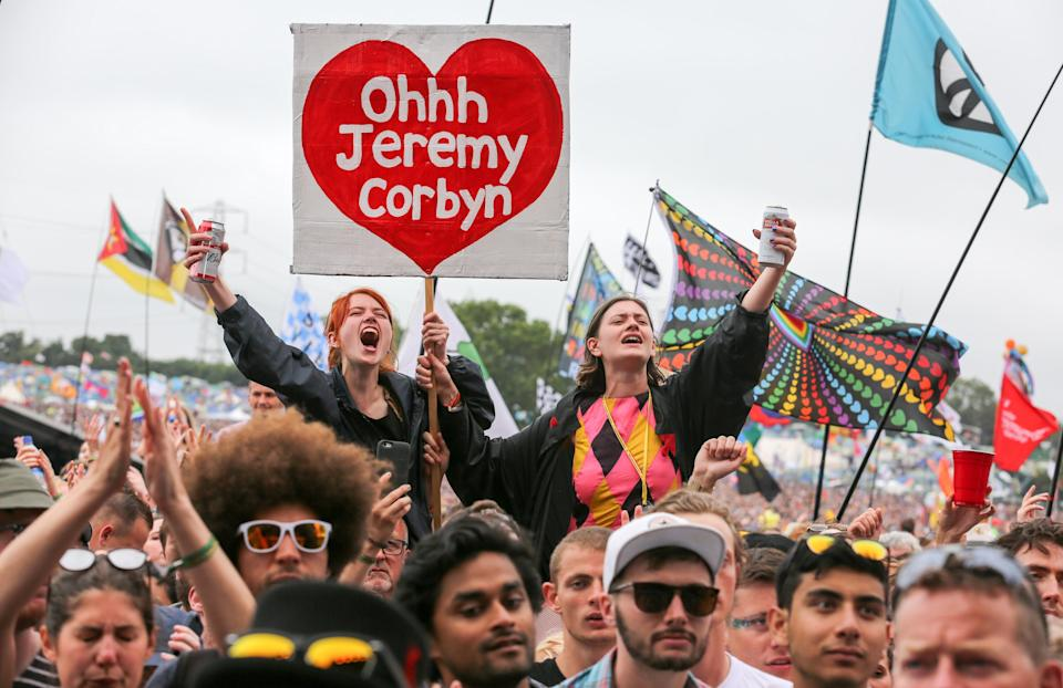 Labour voters at Glastonbury (Getty Images)