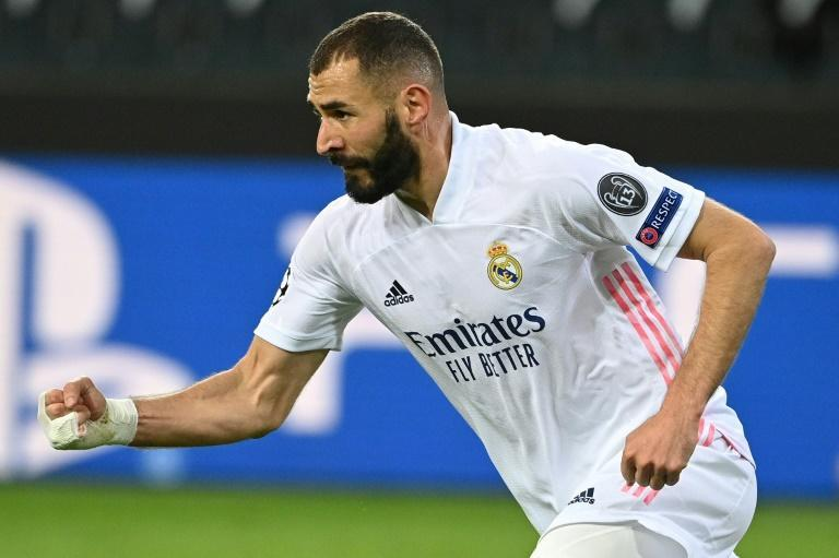Karim Benzema was happer after scoring against Borussia Moenchengladbach
