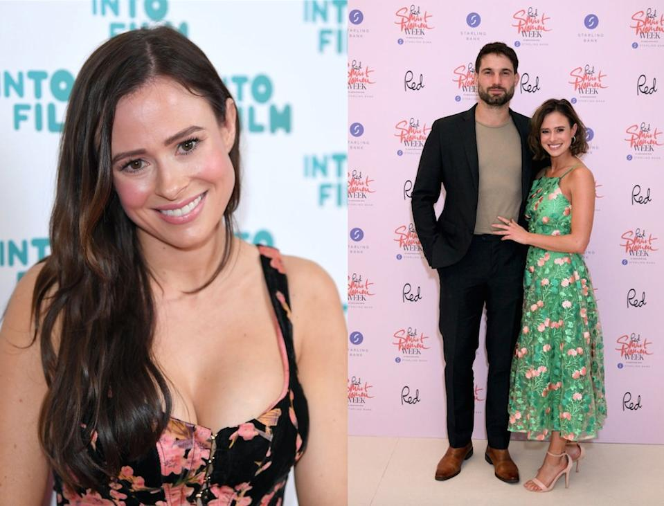 Love Island star has been praised for sharing an image of her breastfeeding her daughter during her wedding to Jamie Jewitt. (Getty Images)