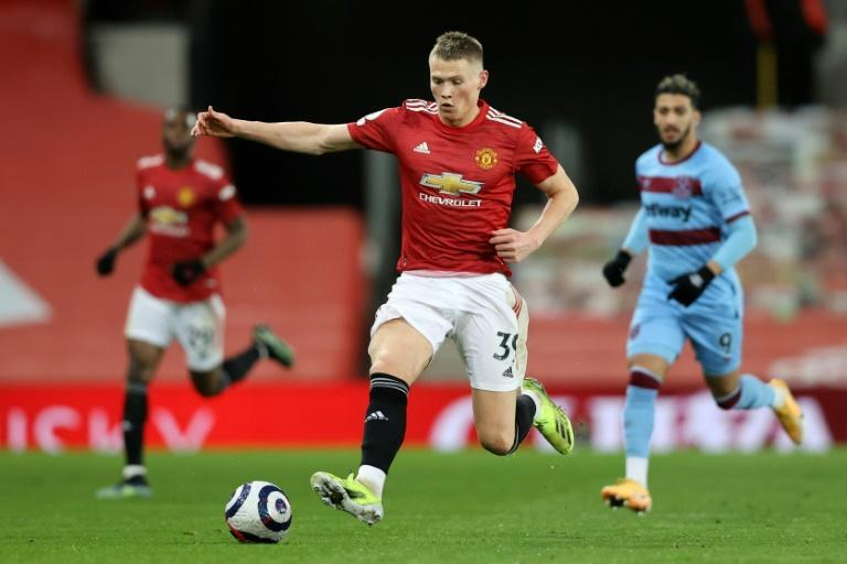 Left wanting more: Scott McTominay (centre)wanted more than just a top-four finish from Manchester United this season
