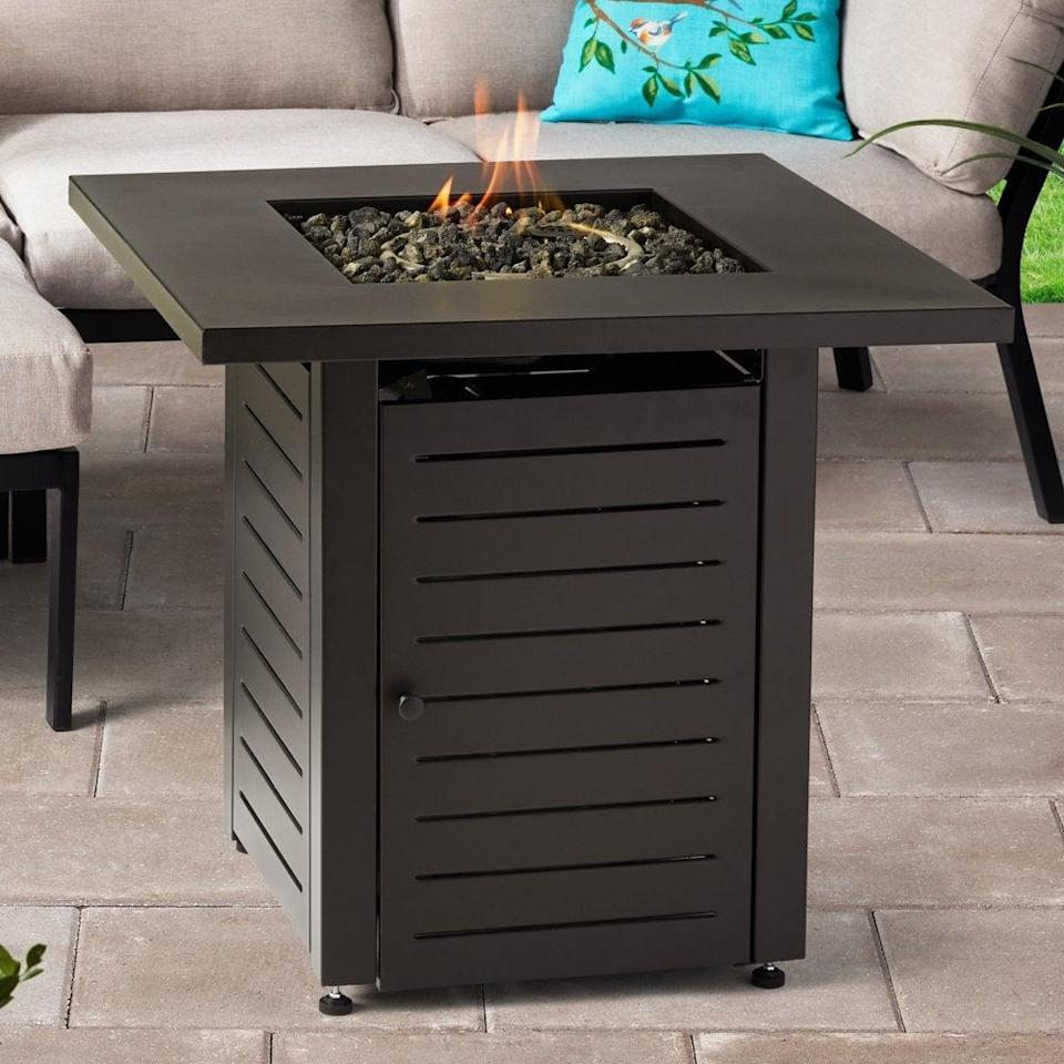 <p>Not only is this <span>Mainstays Square Gas Burning Fire Pit</span> ($162) functional, but it will also add a striking touch of decor to your outdoor space.</p>
