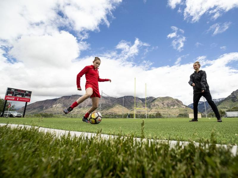 Olivia Moultrie is part of the Portland Thorns academy at just 14 years old. The NWSL as a whole needs academy standards and a homegrown rule to keep talents like Moultrie stateside in their development. (Gabriel Mayberry/Sports Illustrated)