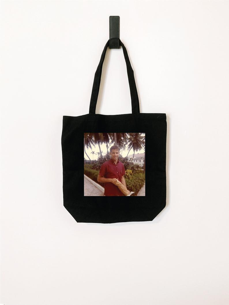 <p><span>Young Joe Biden Tote Bag </span> ($30)</p>