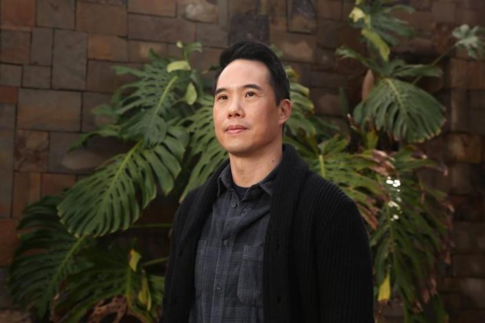 LOS ANGELES, CA - JANUARY 29: Author Charles Yu poses for a portrait in Irvine on Friday, Jan. 29, 2021 in Los Angeles, CA. Yu is the author of books including Interior Chinatown, which is a finalist for the National Book Award for Fiction among other notable recognitions. (Dania Maxwell / Los Angeles Times)