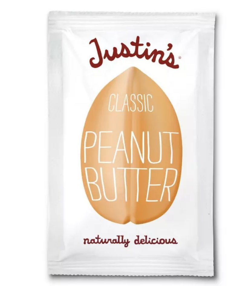 """<p><a class=""""link rapid-noclick-resp"""" href=""""https://www.target.com/p/justin-s-square-pack-classic-peanut-butter-1-15oz/-/A-50382907"""" rel=""""nofollow noopener"""" target=""""_blank"""" data-ylk=""""slk:BUY NOW"""">BUY NOW</a> <strong><em>$0.69, target.com</em></strong></p><p>Have you ever craved a spoonful of peanut butter when you weren't near your pantry? Enter: These convenient Justin's Classic Peanut Butter packages. </p>"""