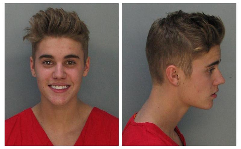 Canadian teen pop singer Justin Bieber is shown in this combo of booking photos provided by the Miami-Dade Corrections and Rehabilitation Department in Miami, Florida January 23, 2014. Bieber was arrested in south Florida early Thursday on a drunk driving charge after he was caught drag racing on a main thoroughfare in a rented yellow Lamborghini sports car, according to police. REUTERS/Miami-Dade Corrections and Rehabilitation Department/Handout via Reuters (UNITED STATES - Tags: ENTERTAINMENT CRIME LAW PROFILE TPX IMAGES OF THE DAY) ATTENTION EDITORS - THIS IMAGE WAS PROVIDED BY A THIRD PARTY. FOR EDITORIAL USE ONLY. NOT FOR SALE FOR MARKETING OR ADVERTISING CAMPAIGNS