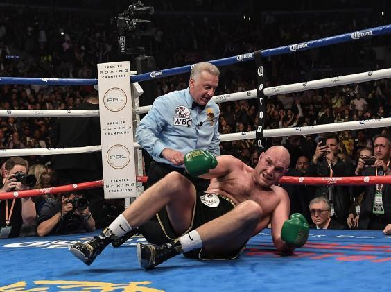 Tyson Fury on his back (Rex)