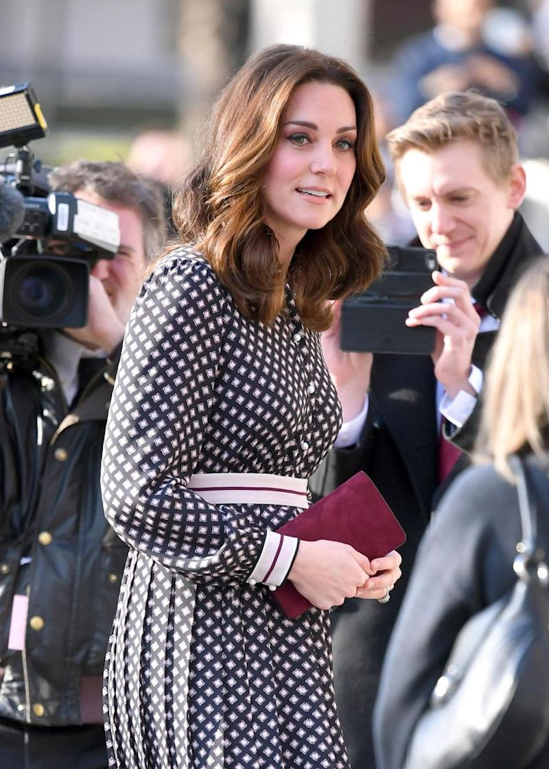 Pregnant Kate is expected to have given birth by the May 2018 royal wedding. Photo: Getty