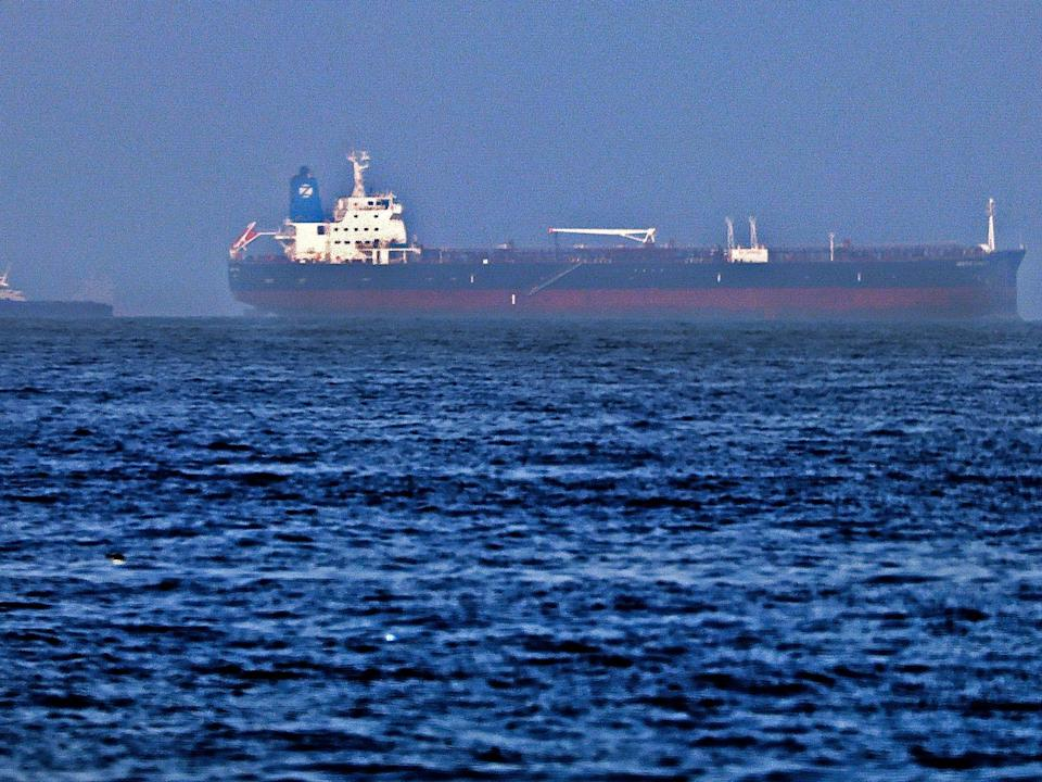 Last week, a drone attack on an oil tanker off the coast of Oman left a British citizen dead (AFP/Getty)