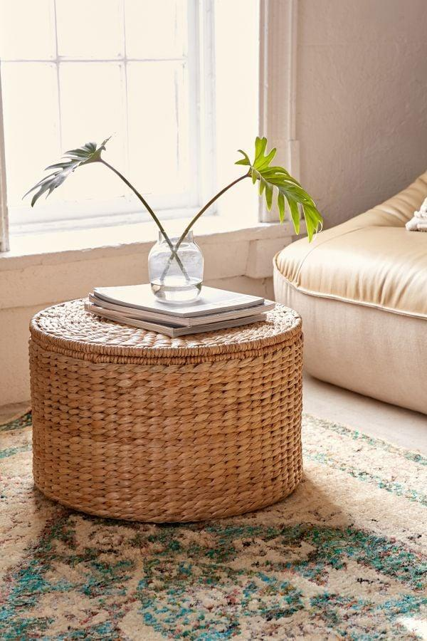 <p>Chic, useful, and cute, anyone will love the style of this <span>Alina Storage Ottoman</span> ($159).</p>