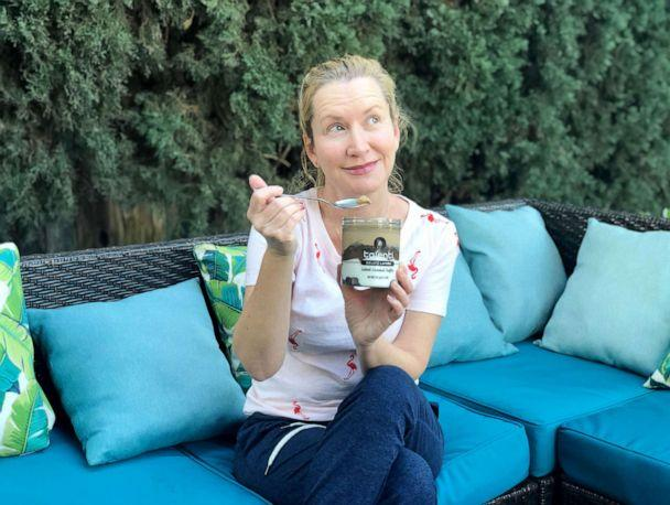 PHOTO: Angela Kinsey with one of her favorite treats, ice cream. (Courtesy of Angela Kinsey)