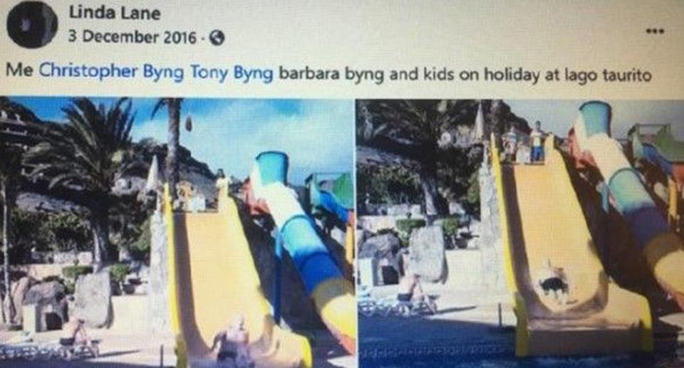 One of the group posted images of the trip on Facebook, despite claiming they were ill on the holiday