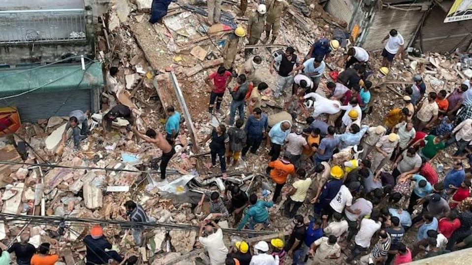 Building collapses in North Delhi; several feared trapped, including kids