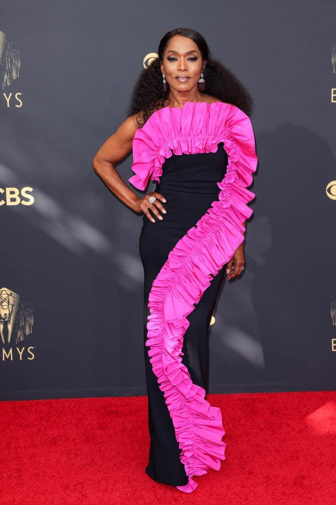 Angela Bassett  attends the 73rd Primetime Emmy Awards in Los Angeles. (Getty Images)