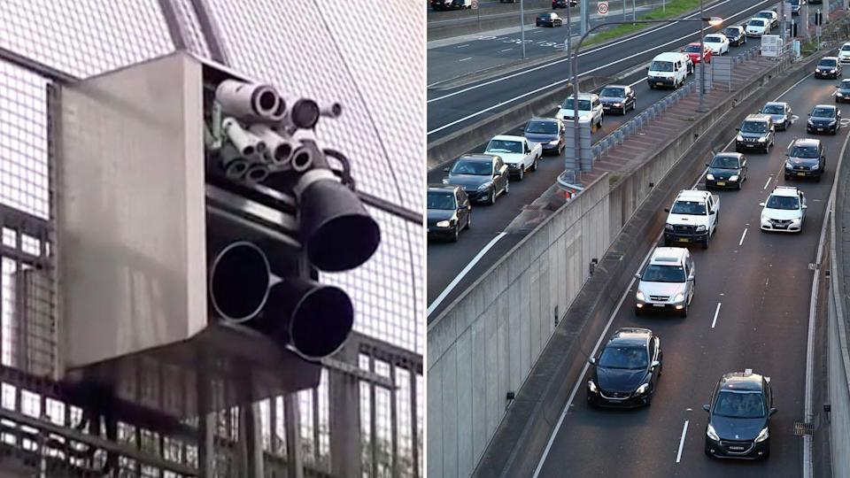 """New """"smart"""" cameras will detect drivers on their mobile phones. Source: 7 News"""