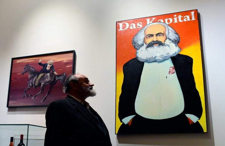Hundreds of images of Marx have been brought together for the exhibition in Saint Petersburg