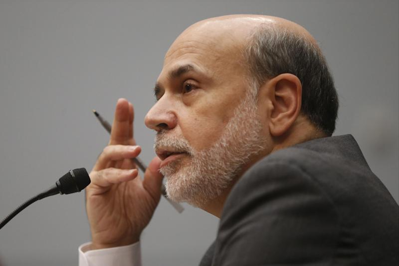 Chairman of the Federal Reserve Ben Bernanke testifies before the House Financial Services Committee on Capitol Hill in Washington, Wednesday, July 17, 2013. (AP Photo/Charles Dharapak)