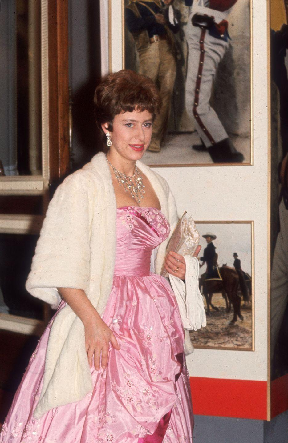<p>Princess Margaret dressed up for the premiere of <em>The Alamo</em> in London. </p>