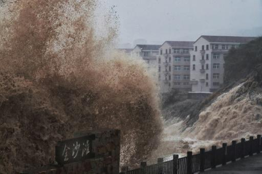 More than a million people were evacuated from their homes in east China ahead of the storm