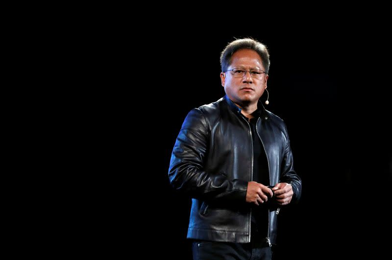 Nvidia co-founder and CEO Jensen Huang attends an event during the annual Computex computer exhibition in Taipei