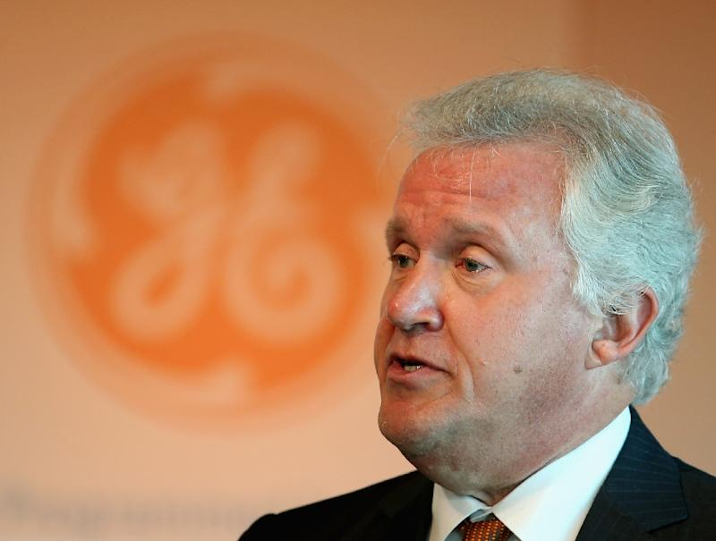"Jeff Immelt, chairman and CEO of GE, pictured on August 4, 2014, said the new unit ""Current"" combines GE products and services in nosite power, energy storage and digital"