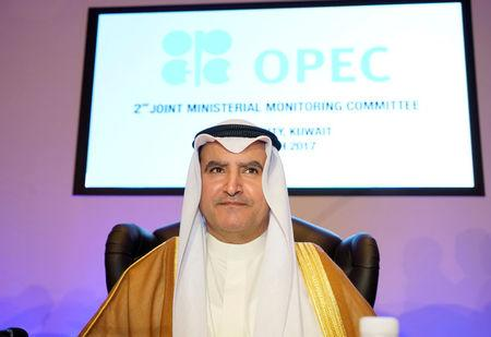 Kuwait Oil Minister Ali Al-Omair opens OPEC 2nd Joint Ministerial Monitoring Committee meeting in Kuwait City, Kuwait, March 26, 2017. REUTERS/Stephanie McGehee