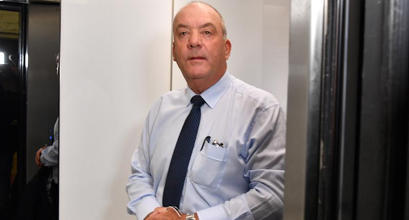 Daryl Maguire arrives at the Independent Commission Against Corruption (ICAC) hearing in Sydney, Friday, October 16, 2020.