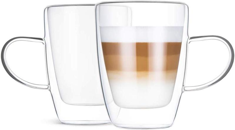 Norsky Double-Wall Insulated Glass Cups (Photo: Amazon)