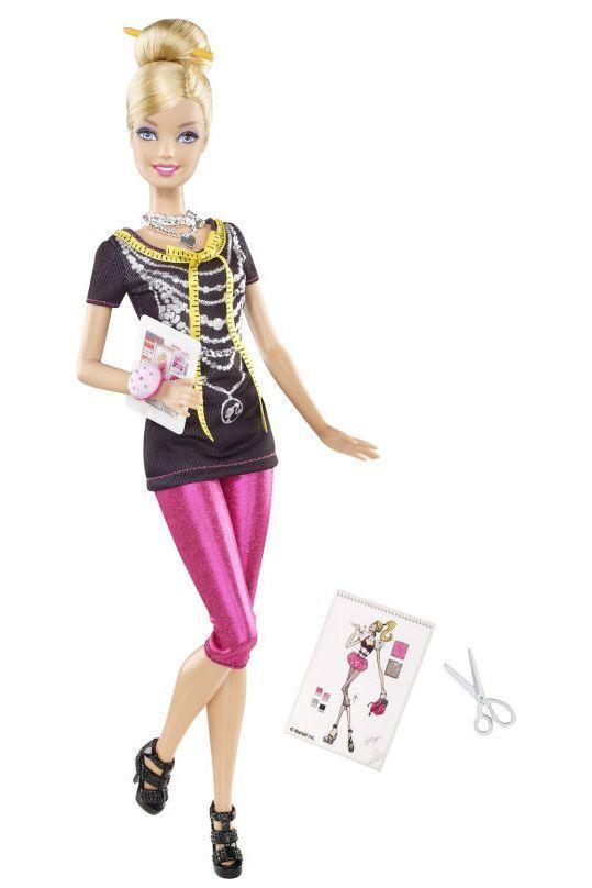 <p>Proving her eye for design isn't limited to homes and buildings, I Can Be a Fashion Designer Barbie starts her own line of clothing. </p>