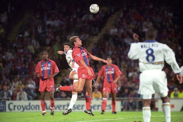 Southgate was a defender with Crystal Palace