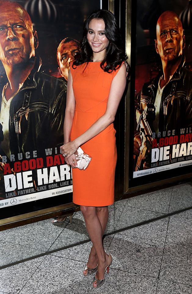 Emma Heming attends the UK Premiere of 'A Good Day To Die Hard' at Empire Leicester Square on February 7, 2013 in London, England.  (Photo by Dave M. Benett/WireImage)