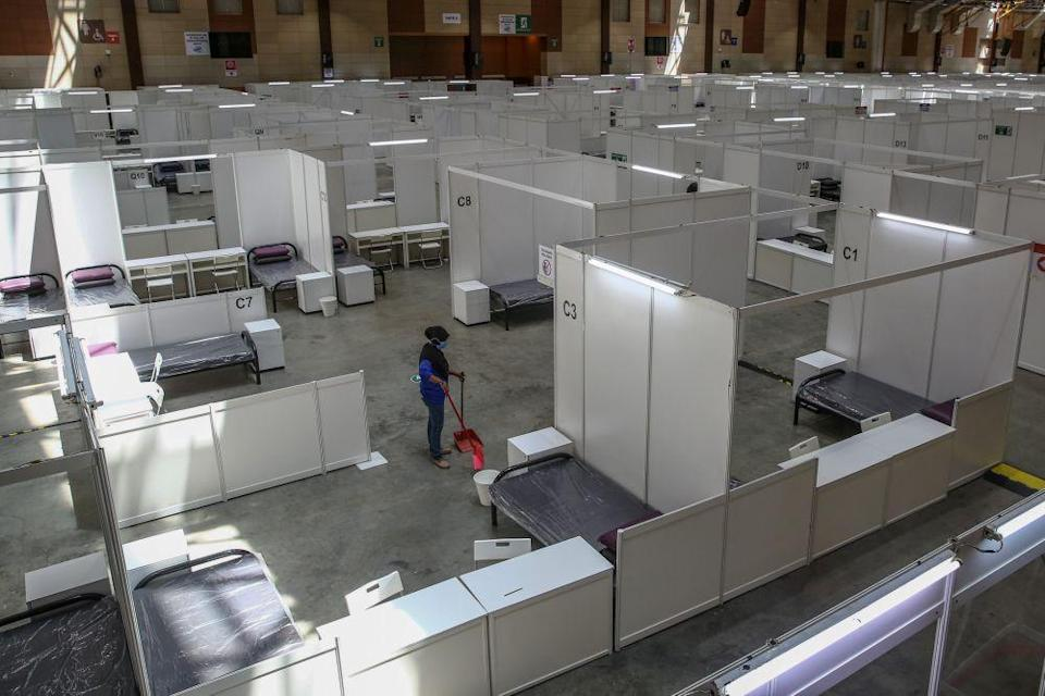 A general view of the low-risk Covid-19 quarantine and treatment centre at the Malaysia Agro Exposition Park Serdang.  — Picture by Yusof Mat Isa