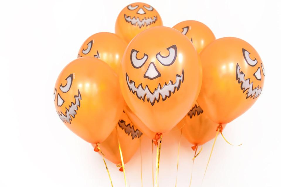 <p>The faces on these balloons will stare straight into your soul. </p>