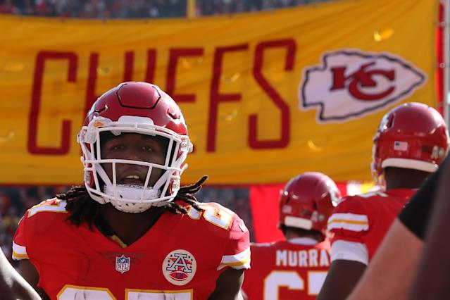 Kansas City Chiefs running back Kareem Hunt. (Photo by Scott Winters/Icon Sportswire via Getty Images)