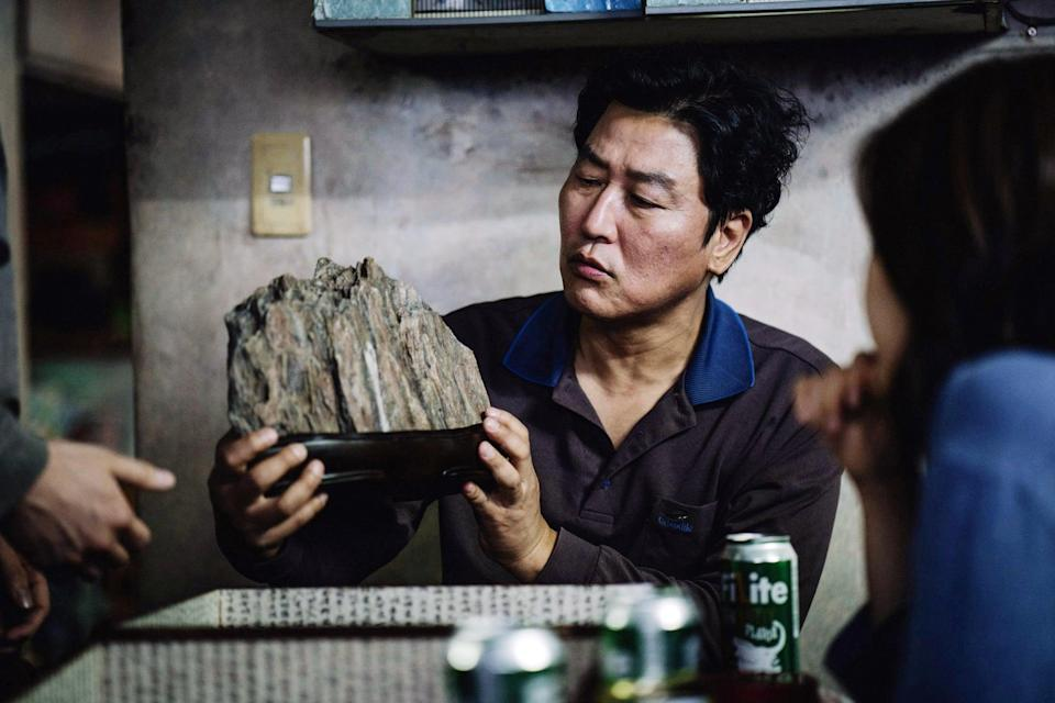 """<p>It's a classic tale of the haves and the have nots, but things go off the rails in all the right ways. Bong Joon-ho's <strong>Parasite </strong>will take you for a deep and twisted ride as the impoverished Kims scam their way into working for the wealthy Parks. Things definitely go awry as the <a href=""""https://www.popsugar.com/entertainment/parasite-movie-ending-explained-46772959"""" class=""""link rapid-noclick-resp"""" rel=""""nofollow noopener"""" target=""""_blank"""" data-ylk=""""slk:Kims will do whatever it takes"""">Kims will do whatever it takes</a> to keep their secret. </p> <p><a href=""""http://www.hulu.com/movie/parasite-2fd691a0-f66b-467f-8635-00d7f151f3d4"""" class=""""link rapid-noclick-resp"""" rel=""""nofollow noopener"""" target=""""_blank"""" data-ylk=""""slk:Watch Parasite on Hulu."""">Watch <strong>Parasite</strong> on Hulu.</a></p>"""