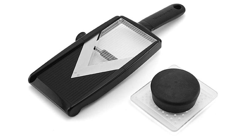 This mandoline slicer is no joke.