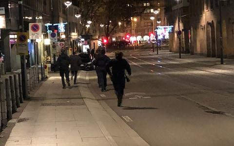 French police say several people have been injured in the city centre - Credit: petervdalen/Twitter