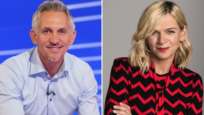 Gary Lineker and Zoe Ball are now the highest earners on the star salaries list